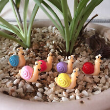 5 Pcs Cute Mini Snail Garden Moss Terrarium Crafts Bonsai Ornaments Random Color
