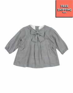 ALETTA Trapeze Dress Size 1M Bow Lame Effect Long Sleeve Made in Italy