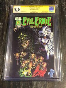 Evil Ernie Revenge #1 Steven Hughes GITD Cover CGC 9.6 Signed By Brian Pulido