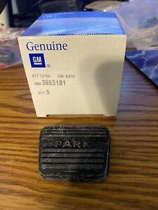 Genuine GM 3893181 Park Brake Pedal Pad GTO Grand Prix Firebird Camaro Nova