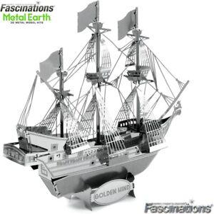 Metal Earth Golden Hind Ship 3D Laser Cut DIY Steel Model Hobby Building Kit