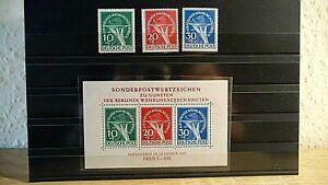 Berlin >>> Block 1 plus Einzelmarken Mi 68-70 - postfrisch & geprüft
