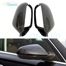 Carbon Fiber Replace Mirror Covers With Side Assist for AUDI A6 C7 S6 RS6 13-UP