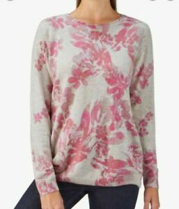 PURE COLLECTION Floral Cashmere Boyfriend Jumper Sweater UK12 RRP £170 *PERFECT*