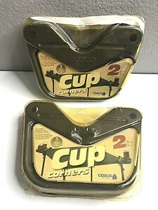 4 Snack Caddy Cup Holder Game Card Or Folding Tables Camping COSTCO - 2 Packs