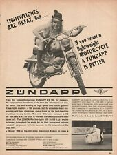 1966 Zundapp KS-100 Lightweight - Vintage Motorcycle Ad