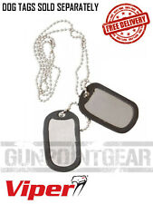 Genuine Viper Tactical Dog Tag Silencers MOD Military  FREE UK SHIPPING (2 Pack)