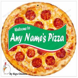 """CUSTOM PIZZA SIGN, RESTAURANT SIGNAGE, ADVERTISING, PIZZERIA, DECOR, 11.75"""""""