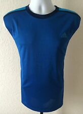 Authentic NWT Adidas Climamax Sleeveless Men's Tee Royal Blue
