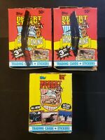 1991 Topps Desert Storm 3rd & Victory Series - 4 Box Lot of 36 Sealed Packs!