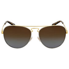 Coach Brown Gradient Polarized Aviator Sunglasses