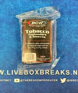 BCW Tobacco Toploaders Pack with Sleeves T 206 Allen Ginter 10 Holders Per Pack