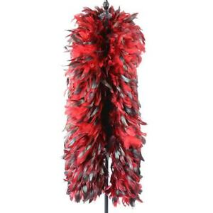 """Red Rooster Boa 72"""" 6 FT for Masquerade Costume Bachelorette Parties - 1 Piece"""