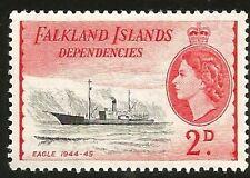 1954 FALKLAND INSELN 2d SCHIFF EAGLE - ADLER QUEEN ELIZABETH II UNGEBRAUCHT
