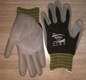 1-12 Ansell HyFlex 11-601 Schutzhandschuhe mit PU-Beschichtung Größe 6,7,8