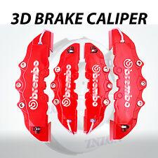 4x Red 3D Disc Brake Caliper Cover Kit For Volkswagen Golf 16-18 inch wheels