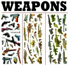 3D puffy Stickers Weapons GUN RIFLE PISTOL KNIFE REVOLVER TANK DAGGER