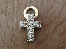 Used - Cross Pendant POMELLATO Colgante Cruz -  Col. Sabbia - Gold and Diamonds