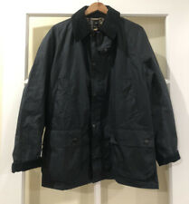 Barbour Men's Ashby Tailored Waxed Cotton Jacket Navy Blue Size Medium $415