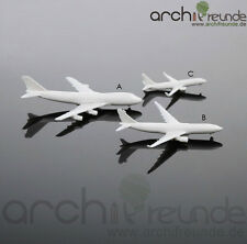 2 x schöne Modell Flugzeug Typ A - 7cm für Flughafen Modellbau 1:500 - 1:1000