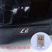 Left&Right Car Door Handle Sticker for TAMIYA 1:14 SCANIA 620 470 Upgrade Part I