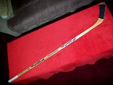 VINTAGE WOOD GAME USED HOCKEY STICK FROM THE UKRAINE GREAT SHAPE FULL SIZE RARE