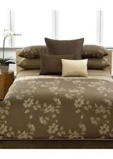 Calvin Klein Golden Vines King Duvet Cover+ King Fitted Sheet. Woodland Brown