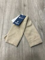 100% Cashmere Wrist Warmers  | Johnstons of Elgin | Made in Scotland | Oatmeal