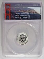 Perfect GEM 2018-s Silver Reverse Proof 50th Anniv. Dime. ANACS RP70 DCAM