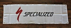 Specialized Banner Flag 1.5' x 5'  Man Cave Bike Racing Race Shop Biking Bicycle