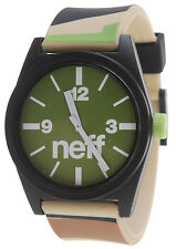 Neff Daily Helvetica Watch - Camo/Olive - NIB Adjustable 165 ft Water Resistant