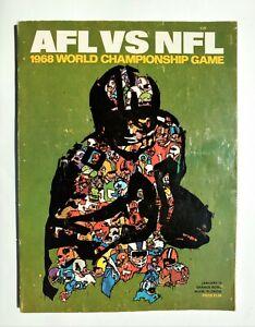 Original 1968 Super Bowl II Program - Jan. 14, 1968 - Packers vs. Raiders