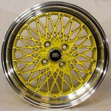 MST MT16 15x8 4x100 +20 73.1 Gold w/Machined Lip Wheels (Set of 4)