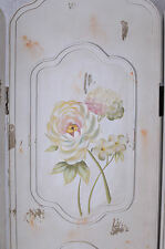 Divider Screen Country Style Dressing Room Divider Flower Painting