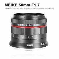 MK 50mm f/1.7 Large Aperture Manual Focus Lens for Nikon Z-mount Z6 Z7 Cameras