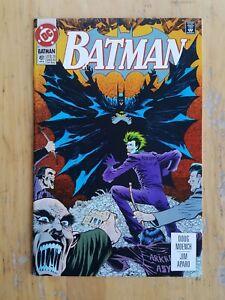 Batman, #491 (1993, DC Comics) High Grade. Joker, Bane