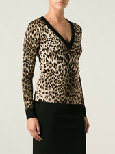 BALMAIN ANIMAL LEOPARD PRINT SWEATER FR 38 UK 10