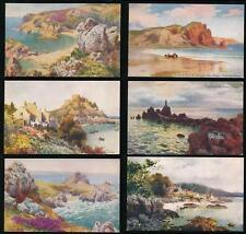 CHANNEL ISLANDS JERSEY BLACKS SERIES 2 PPCs SET of 6...ARTIST WIMBUSH