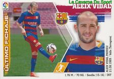 01 ALEIX VIDAL ESPANA FC.BARCELONA NUEVOS FICHAJES STICKER LIGA 2016 PANINI