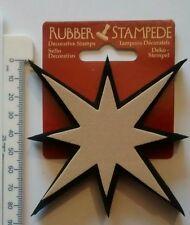 Rubber Stampede decorative craft stamp 8 point star DIY cardcraft art home decor