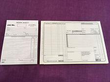 USED CAR VEHICLE GARAGE WORKSHOP REPAIR JOB CARDS AND GARAGE REPAIR INVOICE PAD