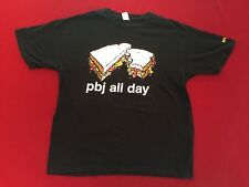 Enjoi Skate XL PBJ All Day Graphic Tee Sandwich Peanut Butter Jelly Tee