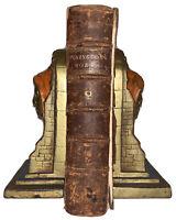 1761, WORKS OF ISAAC PENINGTON, QUAKER, PURITAN, THEOLOGY, ANTIQUE LEATHER
