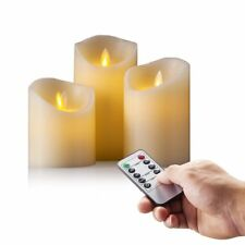 Flickering Moving Wick Flameless Pillar Candle Led Candles Remote Set LAE