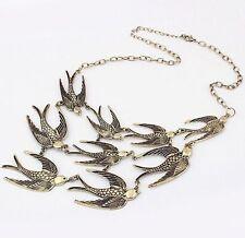 Vintage Jewelry Swallow Women Chain Pendant Bib Collar Statement Choker Necklace
