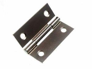 *Pkge of 100 X Butt Hinge Door Cupboard  Bzp Zinc Plated Steel 50Mm 2 Inch