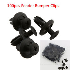 100Pcs 6mm Black Universal Car Bumper Fender Hole Plastic Fasteners Rivets Clips