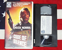 Code of Silence (VHS, 1985) Chuck Norris HBO Big Box Clamshell Video Tape RARE