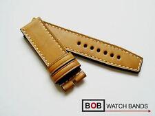 BOB MARINO ECHTLEDERUHRBAND FÜR BREITDORNSCHLIESSE HANDGEMACHT Light-Tan 24-24mm