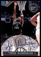 1999-00 Press Pass Tyrone Washington Auto